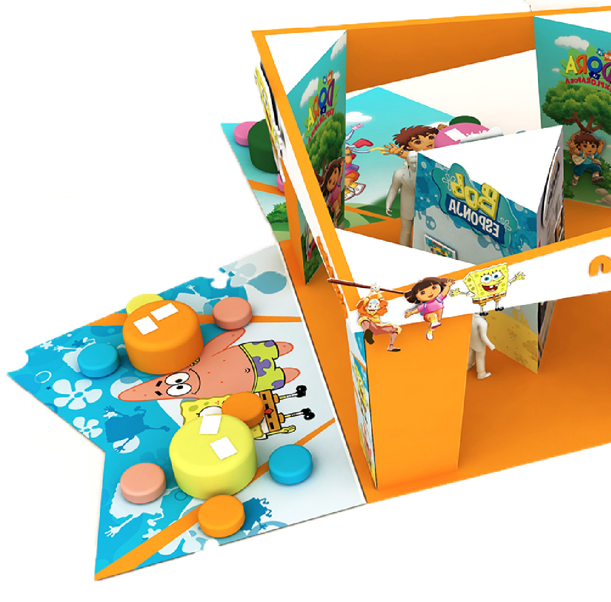 Diseño de creatividad y corporativismo para el canal infantil Nickelodeon de MTV Channel en Madrid