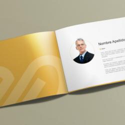 Diseño Diseño logotipo, imagen corporativa corporativo y libros informativos para EG Consultores en Madrid