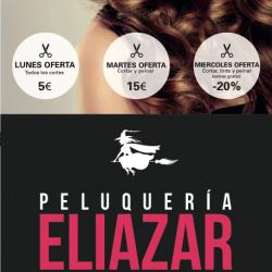Diseño de cartelería para Peluquería Eliazar en Madrid