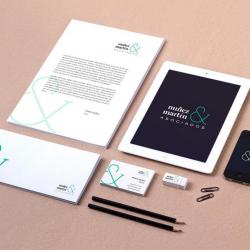 Diseño de logotipo, diseño imagen corporativa, diseño de sobres, diseño de tarjetas de visita, diseño web de Nuñez & Marin Asociados