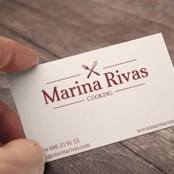 Diseño de Tarjetas Cliente Marina Rivas Cooking