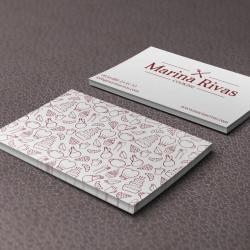 Diseño de tarjetas de visita para Marina Rivas