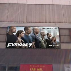 Agencia de publicidad en Madrid - Cartelería en fachada de Furious 7