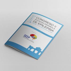 Diseño de papelería, diseño web y vinilos del Congreso de la Sociedad Española de Epilepsia en Madrid