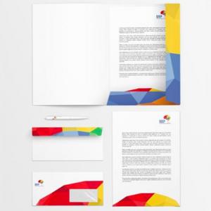 Diseño de logotivo e imagen corporativa, diseño de sobres, diseño de boligrafos, diseño de cartelería, diseño de carpetas para