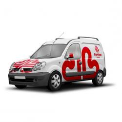 Diseño de vinilos para vehículos de Cáritas